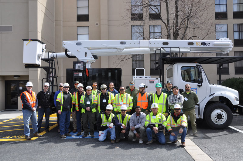 Aerial Lift workshop group photo